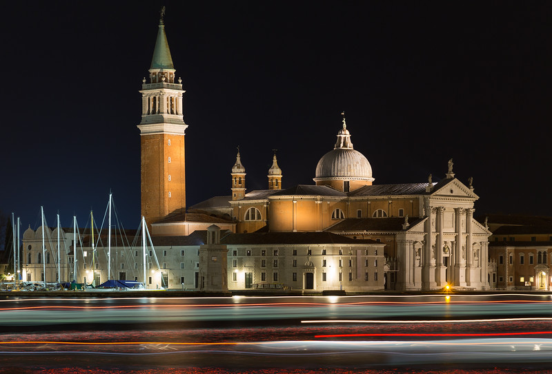 Church of San Giorgio Maggiore at night