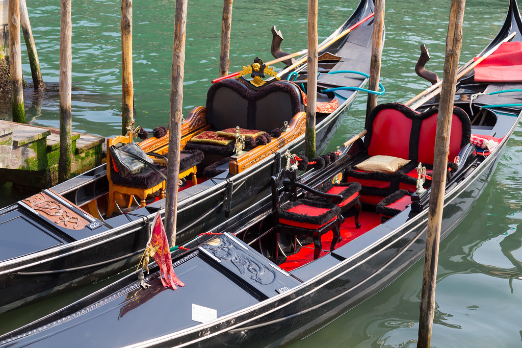 Gondolas docked