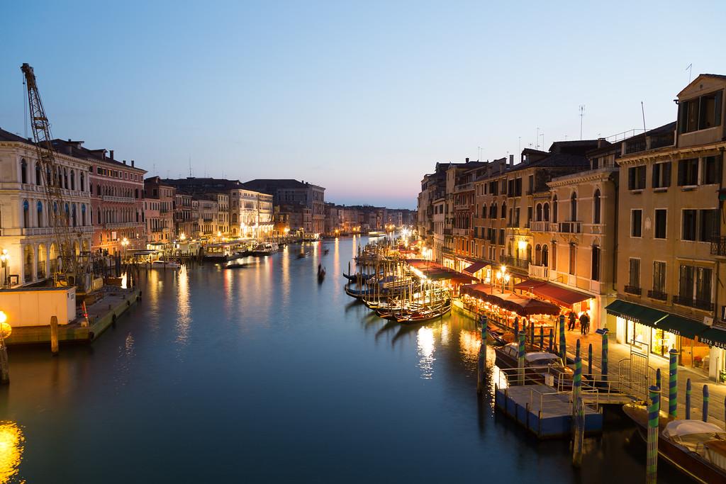 Venice Cityscape from Rialto Bridge