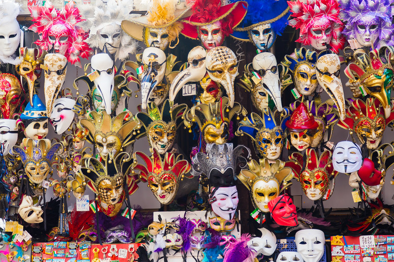 Large amounts of Venetian Masks