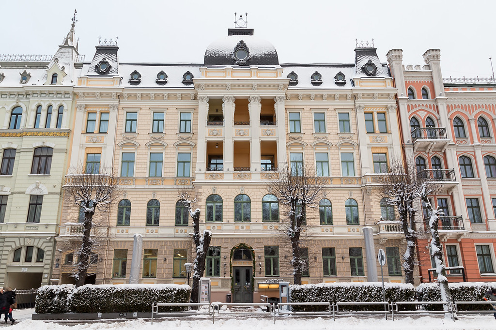 Architecture in Riga along Elizabetes iela
