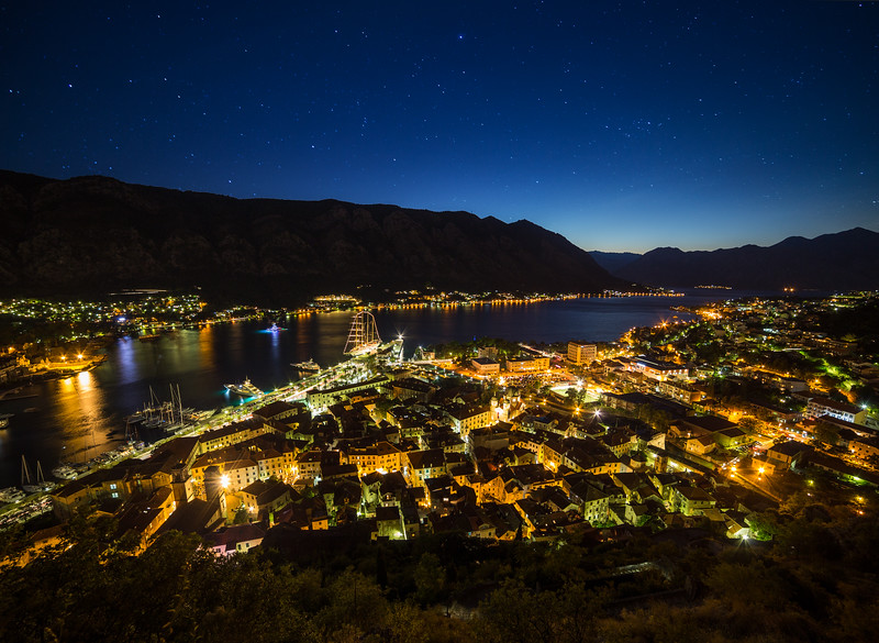 Kotor Skyline at night