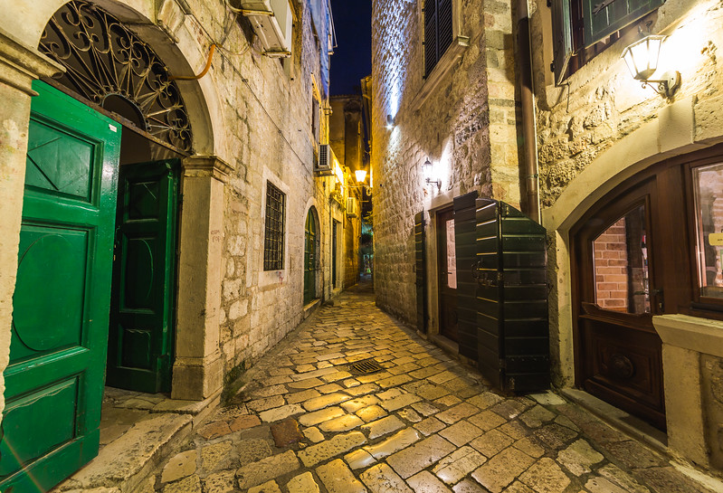 Streets of Kotor at Night