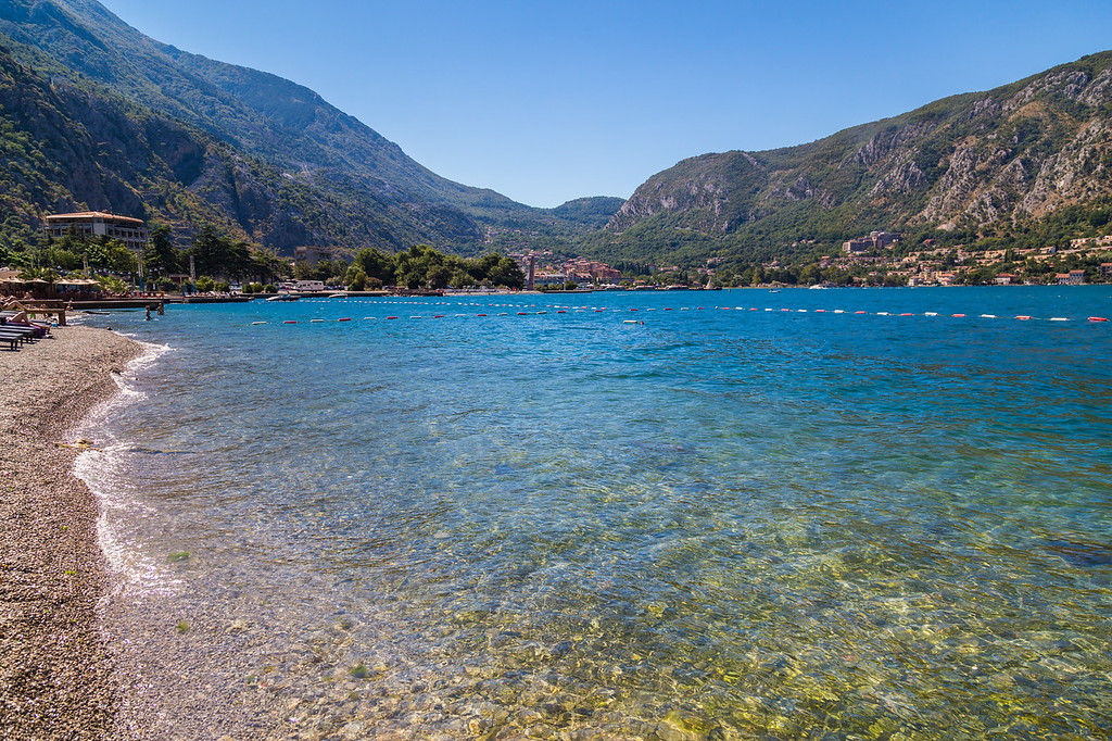 Kotor Beach during the day in the summer.
