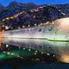 Kotor Walls and Fortress at Night