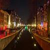 Oudezijds Achterburgwal Canal in the De Wallen District