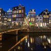 View along the Keizersgracht canal in Amsterdam