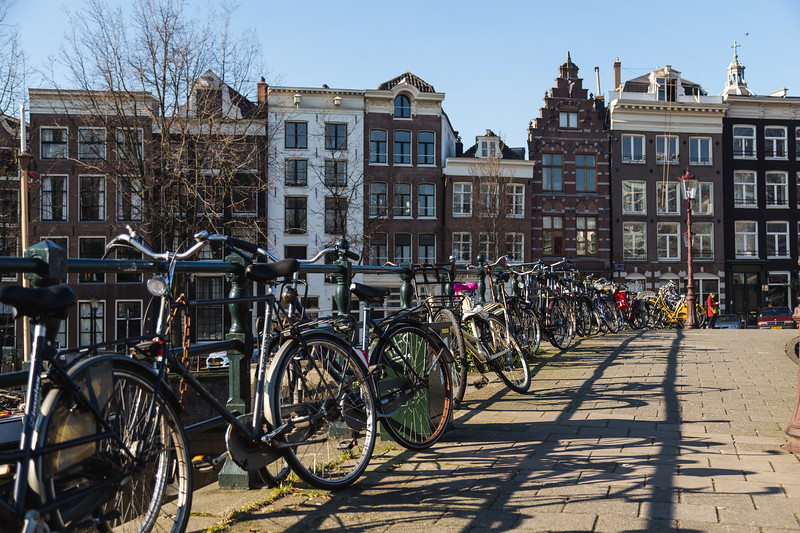 Bikes and Buildings in Amsterdam