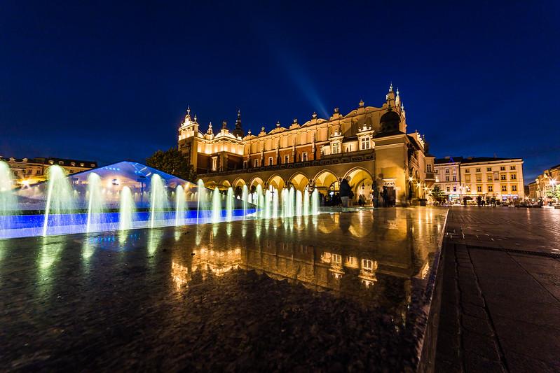 Cloth Hall on Rynek Glowny (Main Square) in Krakow at night