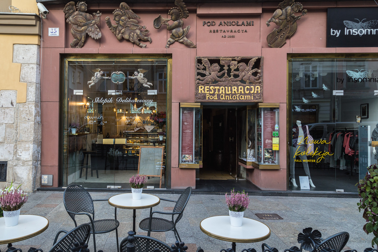 Shops in Krakow along Grodzka Street