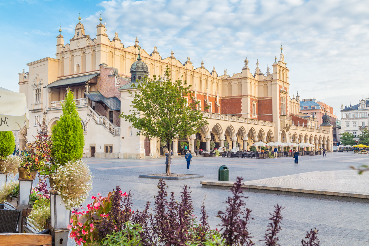 Cloth Hall and Rynek Glowny in Krakow