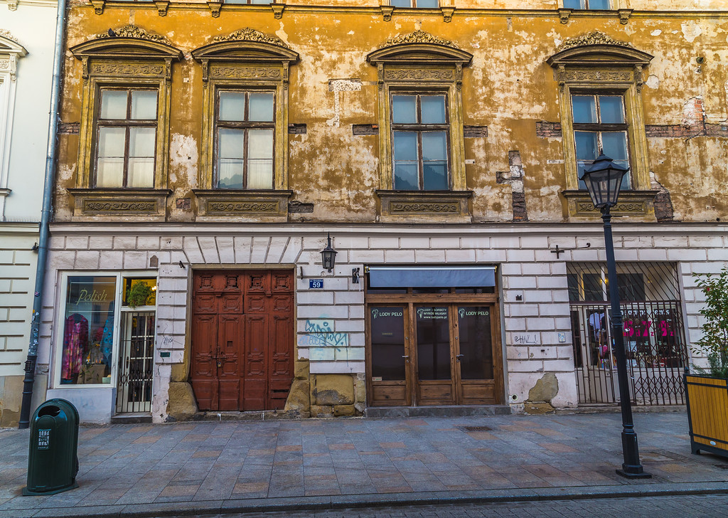 Architecture along Grodzka street in Krakow