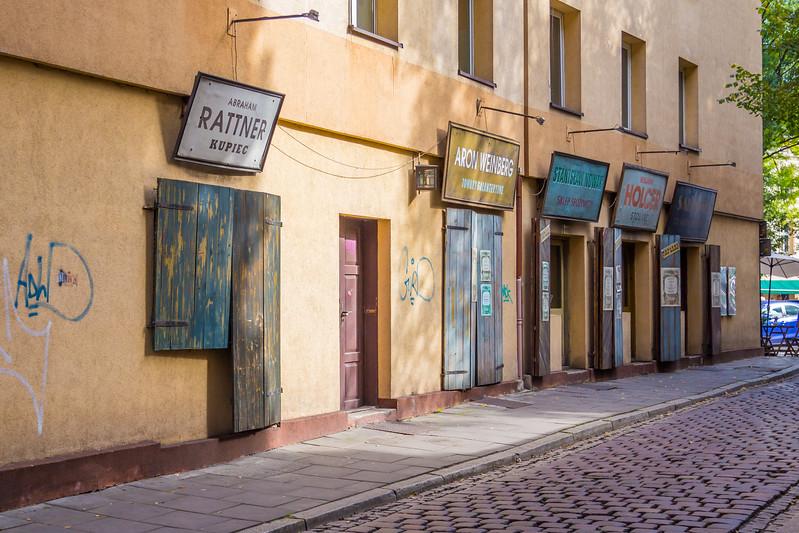 Buildings in Kazimierz, Krakow