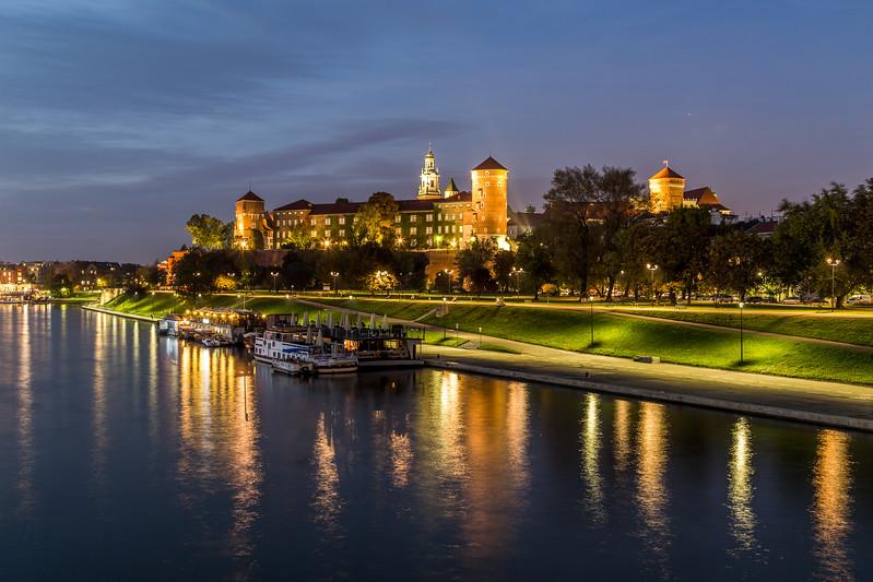Wawel Royal Castle at Night