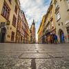 Florianska street and St. Mary's Basilica in Krakow