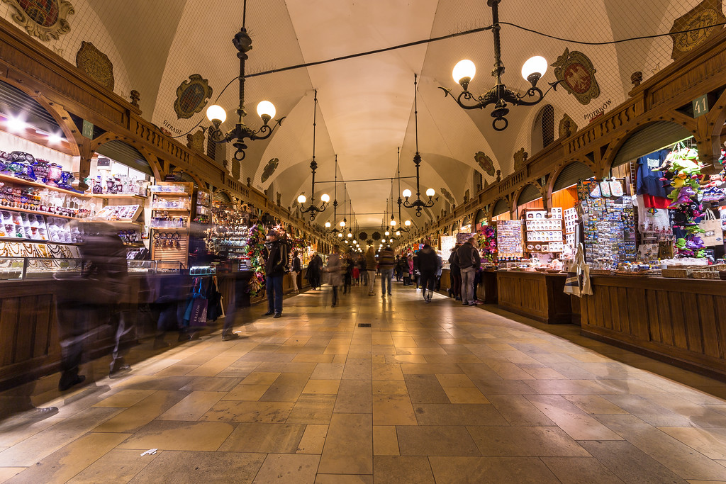 Krakow Cloth Market at night