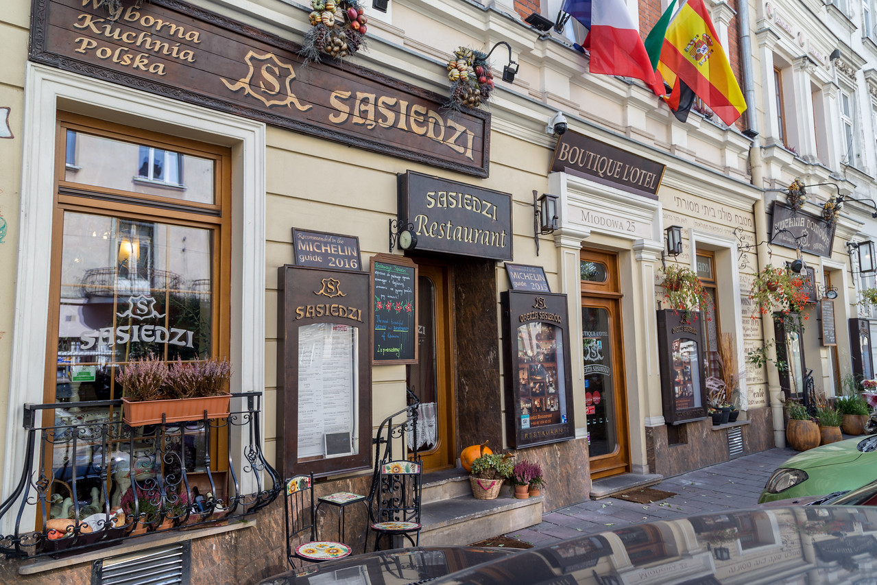Beautiful restaurants in Kazimierz, Krakow