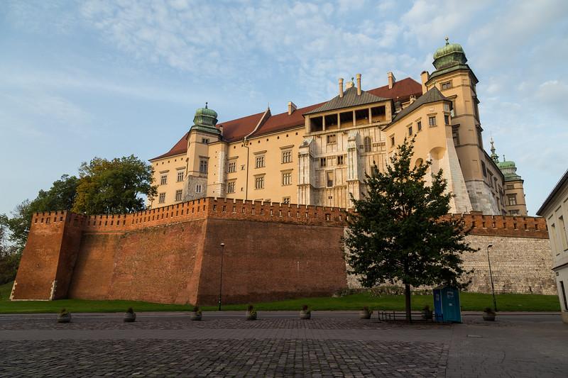 Wawel Royal Castle in the morning