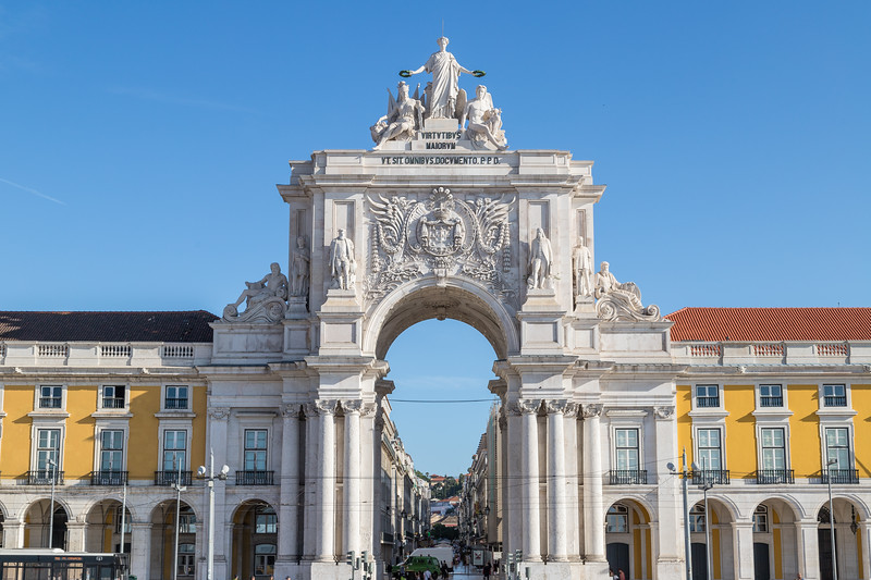 Arco da Rua Augusta at Praca do Comercio in Lisbon