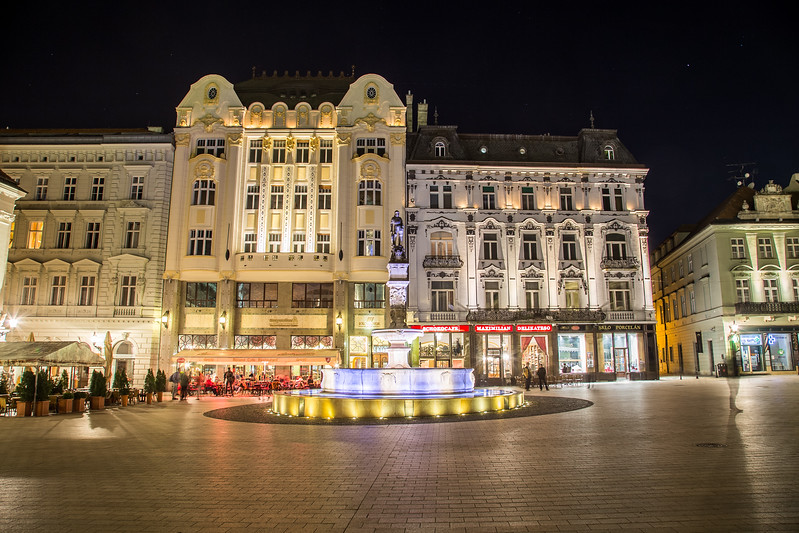 Old Town Bratislava at Night