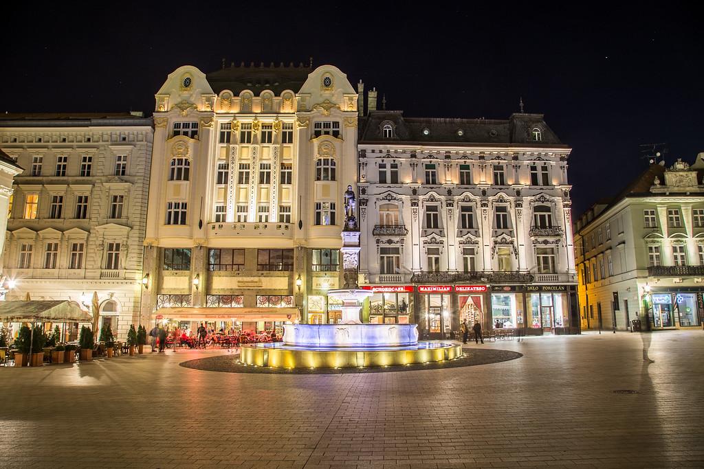 Old Town Bratislava at Night