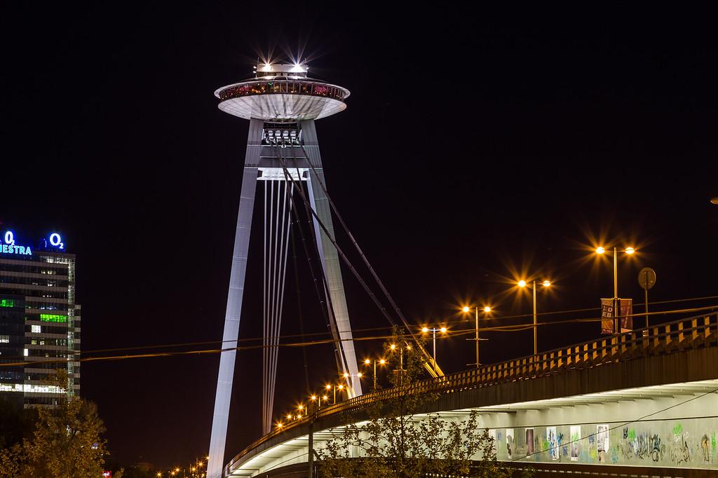 UFO Tower and Novy Most Bridge