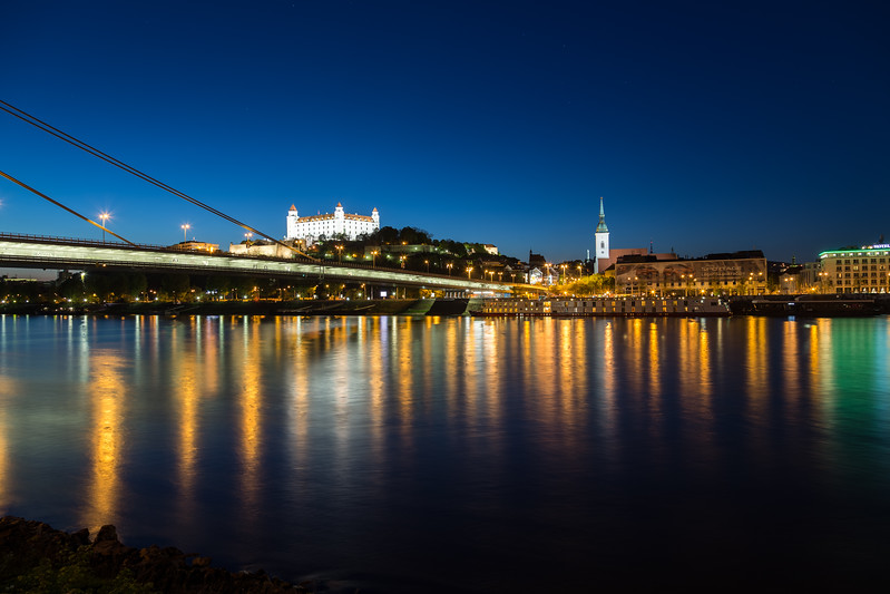 Bratislava Skyline at Night