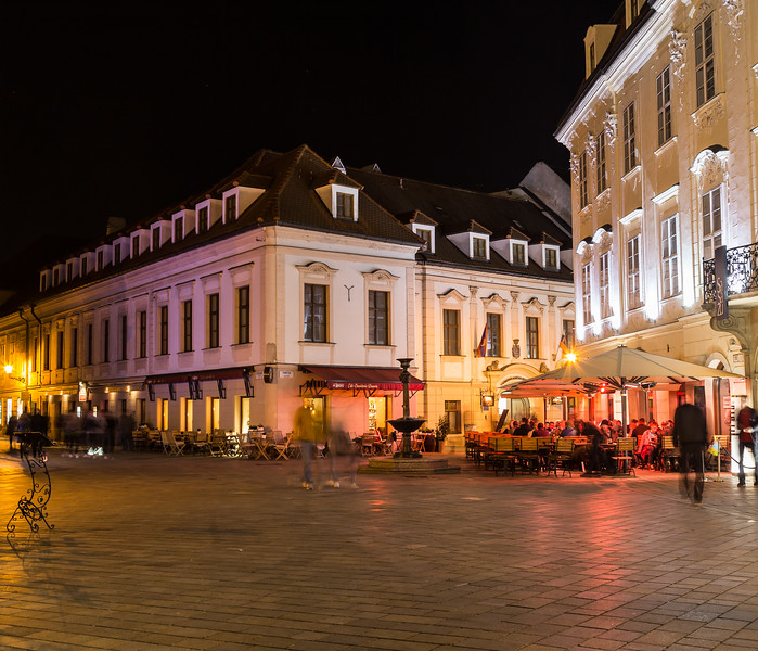 Streets of Bratislava at Night