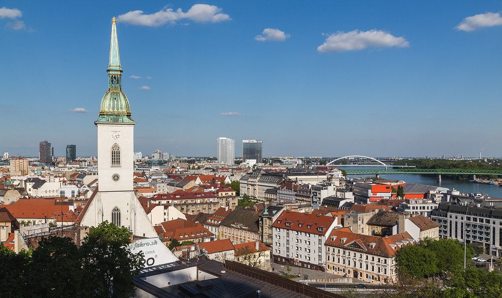 St. Martin's Cathedral and Bratislava Skyline