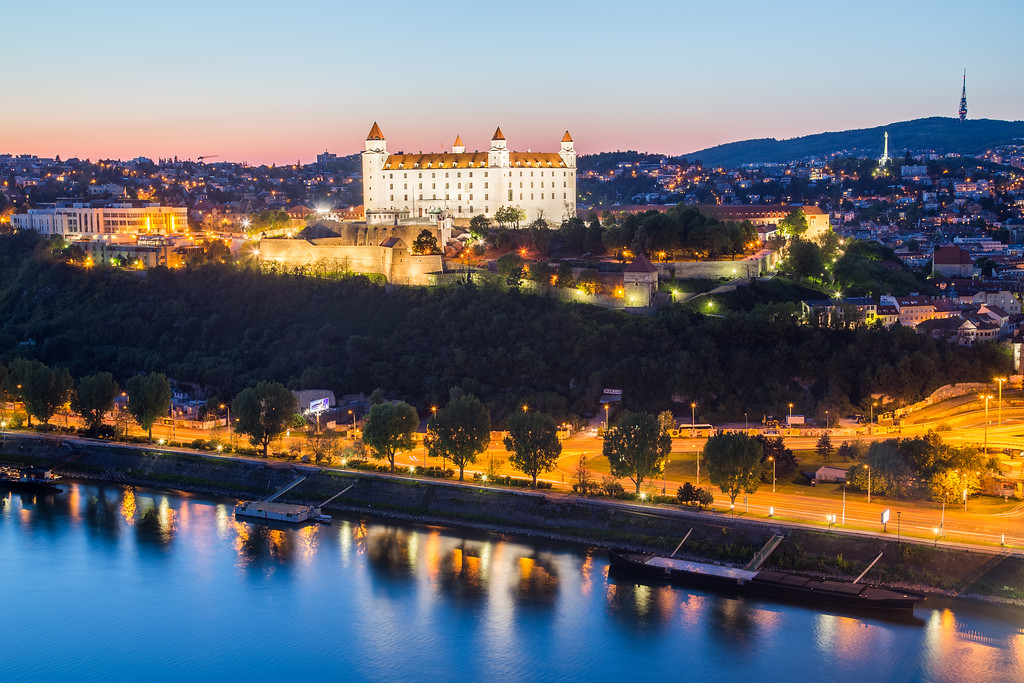 Bratislava Castle at Twilight