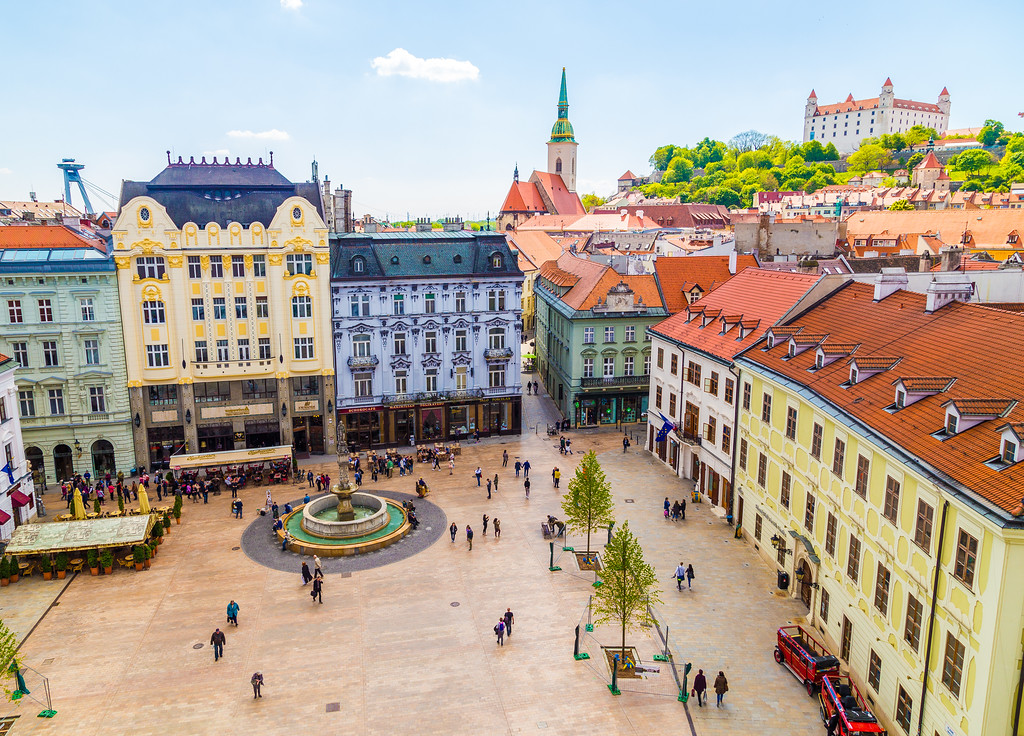 View of Bratislava from the Old Town Hall Tower
