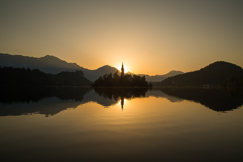 Bled Lake at Sunrise