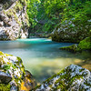 Views of Vintgar Gorge in Slovenia