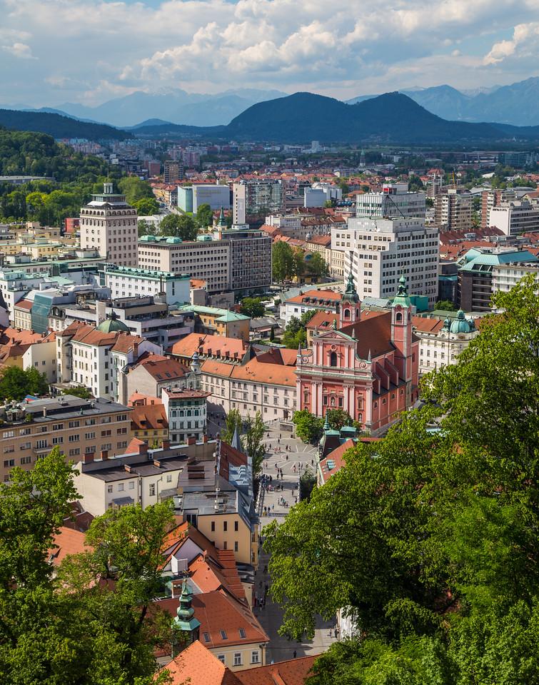 Ljubljana skyline during the day