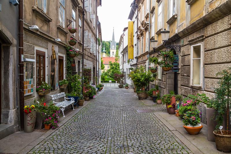 Streets in Ljubljana