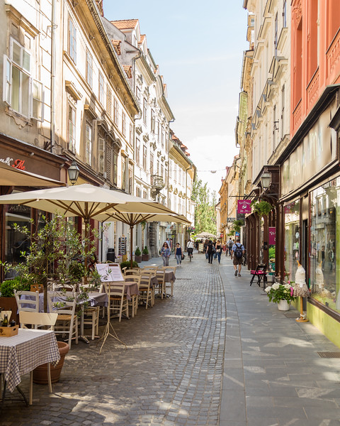Streets of Ljubljana during the day