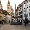 Buildings in Ljubljana  in the morning