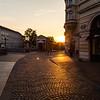 Streets of Ljubljana in the morning