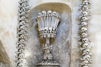 Bones decorations at the Sedlec Ossuary.