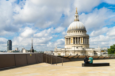 View from the top of New Change Mall of St. Paul's cathedral