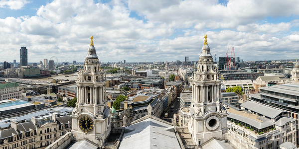London panorama from St. Paul's Cathedral