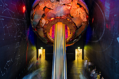 Elevator to the core, Natural History Museum