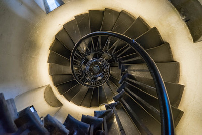 Spiral staircase at the Monument to the Great Fire, London