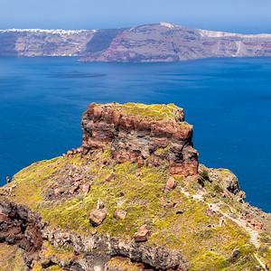 Skaros Rock and Thirasia Island
