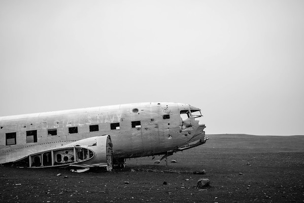 A US Navy DC-3 crashed in 1973 near Sólheimasandur, Iceland.