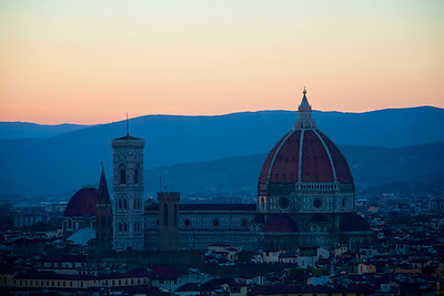 Florence Cathedral at dusk