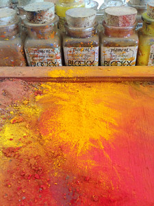 Pigments: Studio of Artist Robert Brandy, Luxembourg
