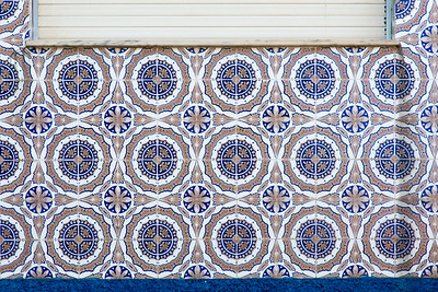 Decorative tiles, Braga, Portugal
