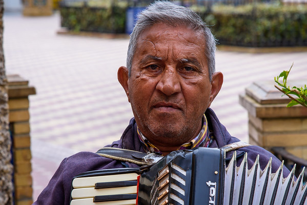 Accordion player, Ayomonte Spain