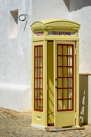 Telephone booth in Cacela Velha